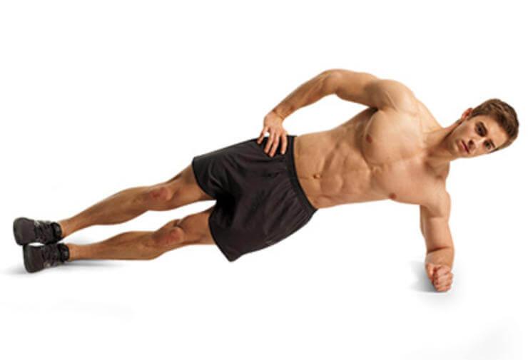 Exercice de gainage latéral