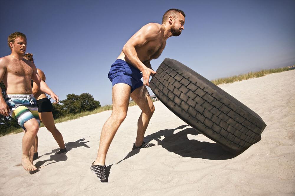 Soulevé de pneu